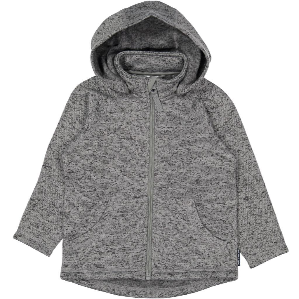 Polarn O. Pyret Marled Fleece Hoodie Jacket (2-6YRS) - Grey Melange/2-4 Years by Polarn O. Pyret