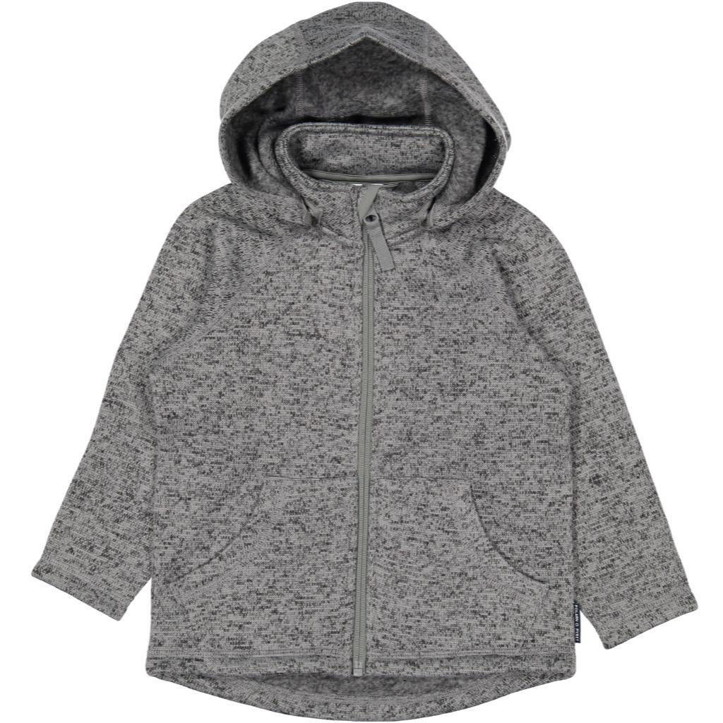 Polarn O. Pyret Marled Fleece Hoodie Jacket (2-6YRS) - Grey Melange/2-4 Years