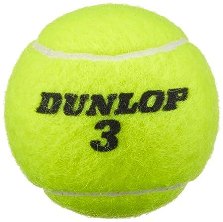 Dunlop Match 4 Pelotas de Tenis Lata, Amarillo, One Size: Amazon ...