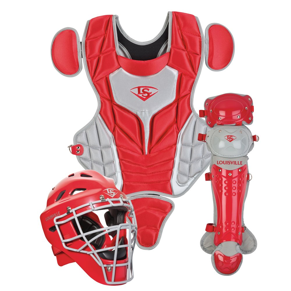 Louisville Slugger Youth PG Series 5 Catchers Set, Scarlet/Gray