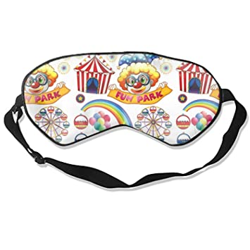Clowns And Circus Sleeping Mask Silk Eye Mask for Sleeping Blinders With Adjustable Straps Out for