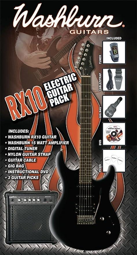 Washburn Rx-10 B Pack - Washburn Rx-10 B - Pack De Guitarra ...