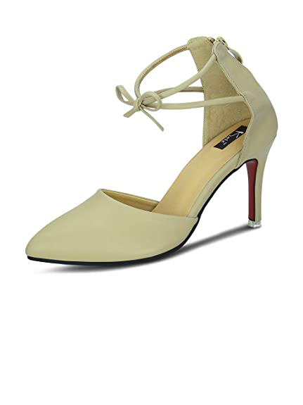 fa74e19034a4 Kielz Beige Stiletto Zipper Women s Sandals  Buy Online at Low Prices in  India - Amazon.in