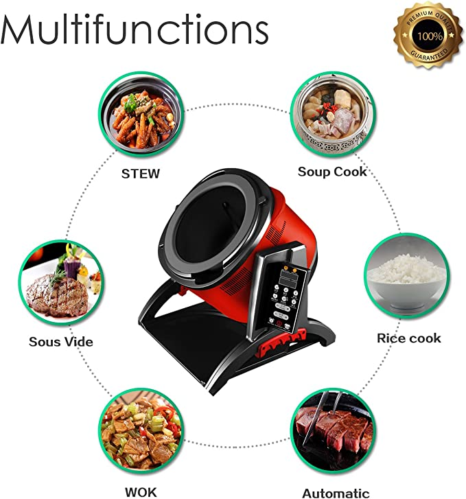 Xiaocaiyidie Robot Cooker Fried Pan Cooking Machine Cooking Delicious Food Diner for homeuse: Amazon.es