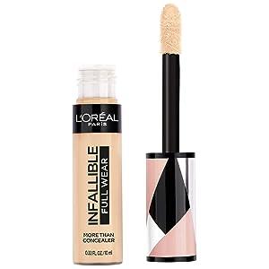 L'Oréal Paris Makeup Infallible Full Wear Concealer, Full Coverage, EXTRA LARGE Applicator, Waterproof, Multi-Use Concealer to Shape, Cover, Contour & Sculpt, Matte Finish, Vanilla, 0.33 fl. oz.