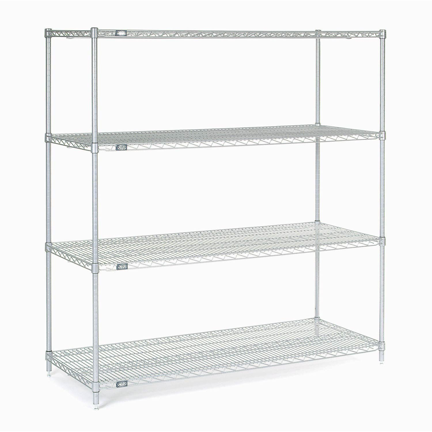 Chrome Wire Shelving, 60''W X 14''D x 54''H by Global Industrial