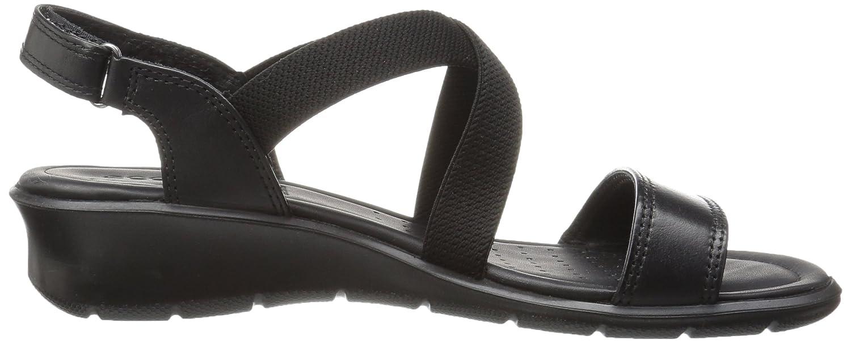 Ecco Damen Felicia Offene Sandalen mit Keilabsatz Schwarz (1001schwarz) (1001schwarz) (1001schwarz) 9d29d3