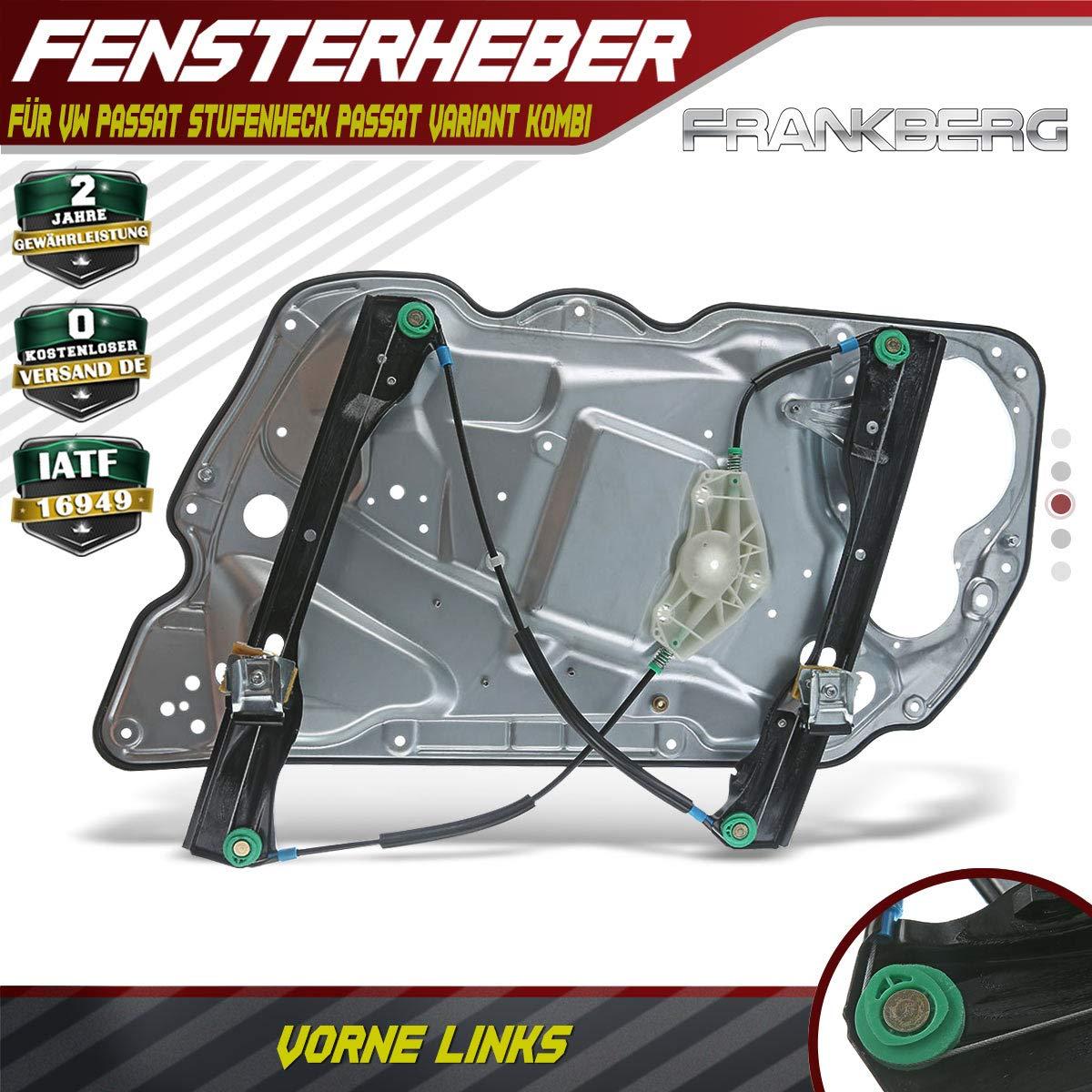 Fensterheber Elektrisch Ohne Motor Vorne Links f/ür Passat 3C2 Passat Variant 3C5 4//5-T/ürer 2005-2011 3C1837755