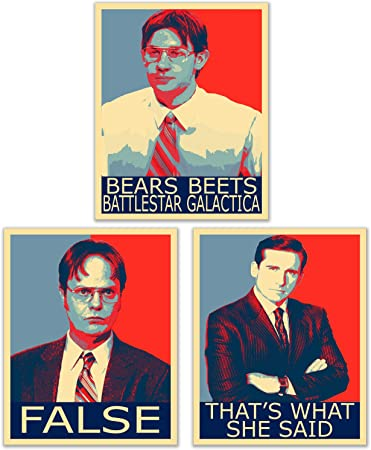 the office hope posters set of 3 8 inches x 10 inches michael scott dwight schrute jim halpert
