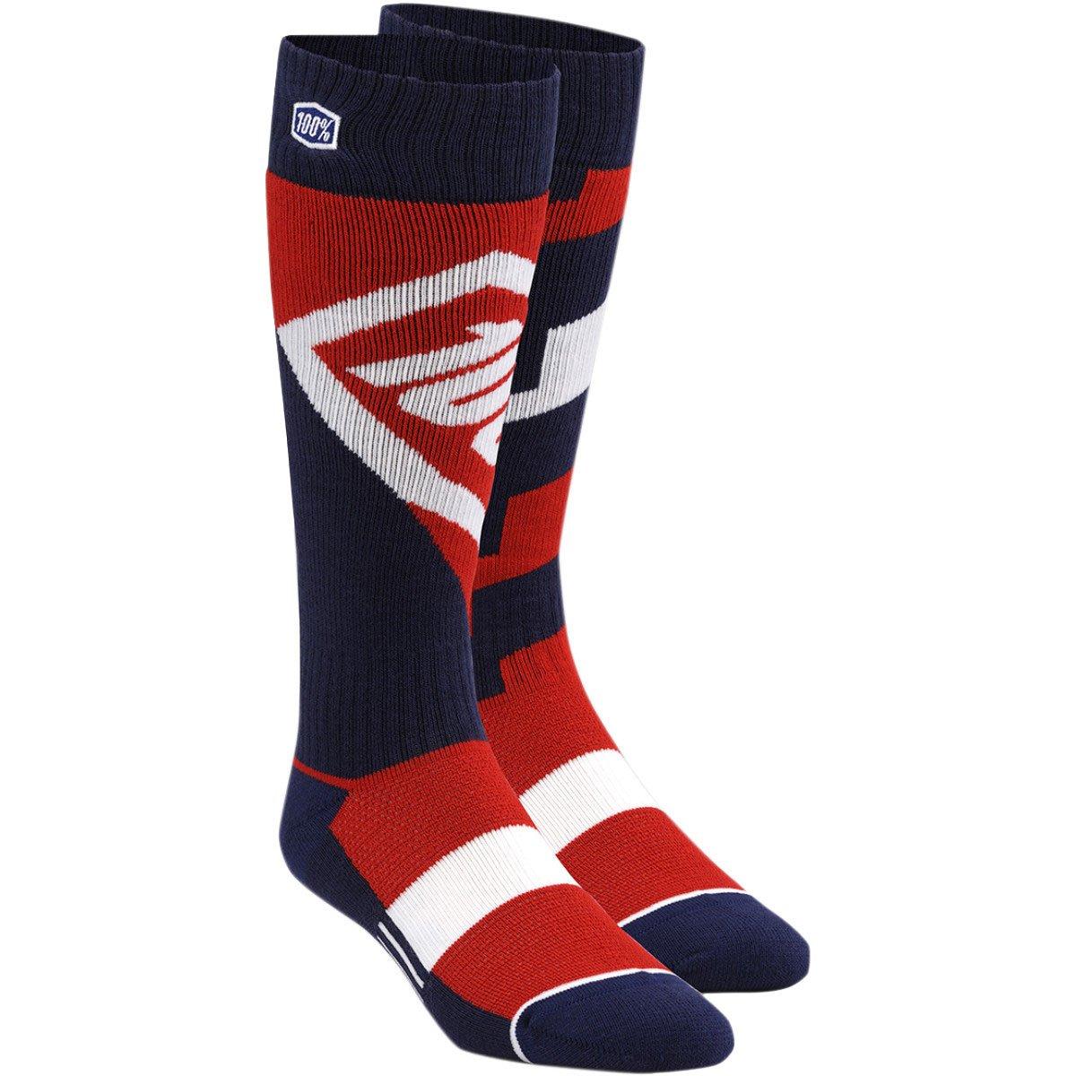 100% 24107-003-18 Unisex-Child Youth Torque 8'' Mid Calf Riding Socks (Black,Large/X-Large)