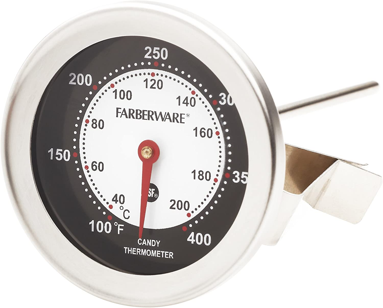 Farberware Protek Candy and Deep Fry Thermometer Kitchen Tools, One Size, Stainless Steel