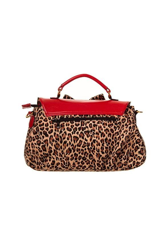 1950s Handbags, Purses, and Evening Bag Styles Banned Red Leopard Shoulder Bag $28.95 AT vintagedancer.com
