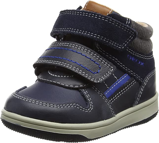 Kids Geox Navy leather 'Baby Flick