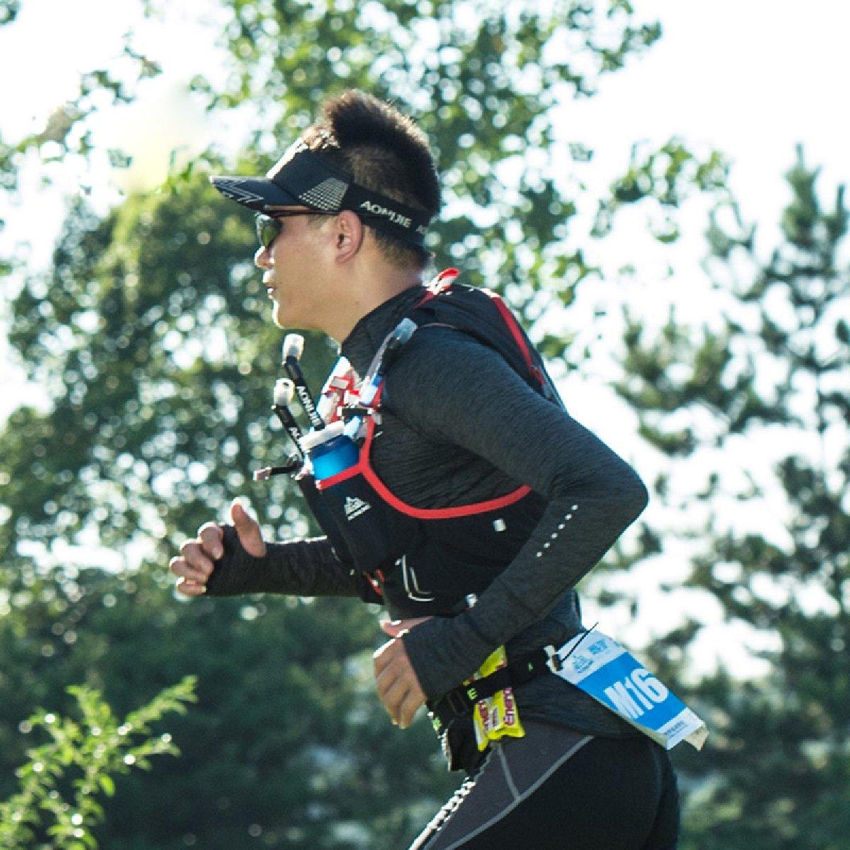 Marat/ón Ciclismo Gris TRIWONDER Runners Race Number Belt con 6 Loops para Triatl/ón Correr
