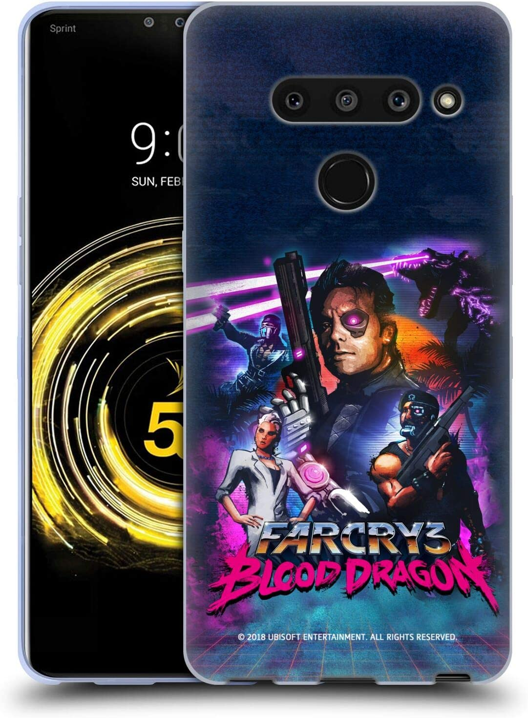 Amazon Com Head Case Designs Officially Licensed Far Cry Fist Bump 3 Blood Dragon Key Art Soft Gel Case Compatible With Lg V50 Thinq 5g