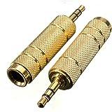 Adaptador Clavija Audio Conversor Jack Hembra 6.3mm Mini Jack Macho 3.5 mm 2460