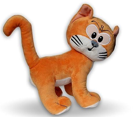 Azrael 20cm Peluche Gato de Gargamel Naranja Los Pitufos Super Suave de Gran Calidad