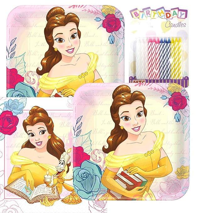 Amazon.com: Disney Bella y la Bestia Platos y Servilletas ...