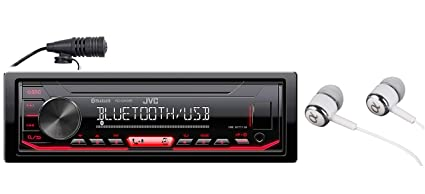 JVC KD-X260BT Built-in Bluetooth, AM/FM, USB, MP3, Pandora, Spotify,  iHeartRadio Digital media receiver, Works with Apple and Android Phones,