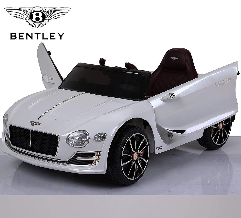 BC Baby Auto BC babycoches-coche elettrica 12 V per bambini Bentley Continental, Telo, telecomando genitore, porte verdeicali, Sedile polipiel, ruote Eva. bianco