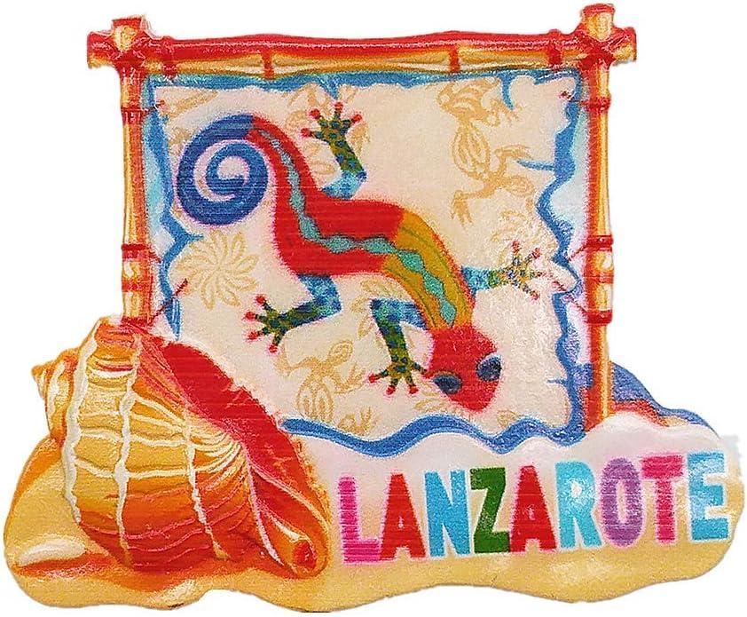 MUYU Magnet Lanzarote España 3D imán de Nevera turista Souvenir Regalo, hogar y Cocina decoración magnético calcomanía, Lanzarote España Imán Collection: Amazon.es: Hogar