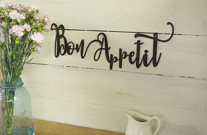 Amazon.com: Bon Appetit Metal Sign, Farmhouse Decor, Rustic ...