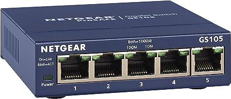Amazon Com Netgear 5 Port Gigabit Ethernet Unmanaged Switch Gs105na Desktop And Prosafe Limited Lifetime Protection Electronics