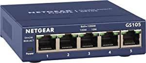 NETGEAR 5-Port Gigabit Ethernet Unmanaged Switch (GS105NA) - Desktop, and ProSAFE Limited Lifetime Protection