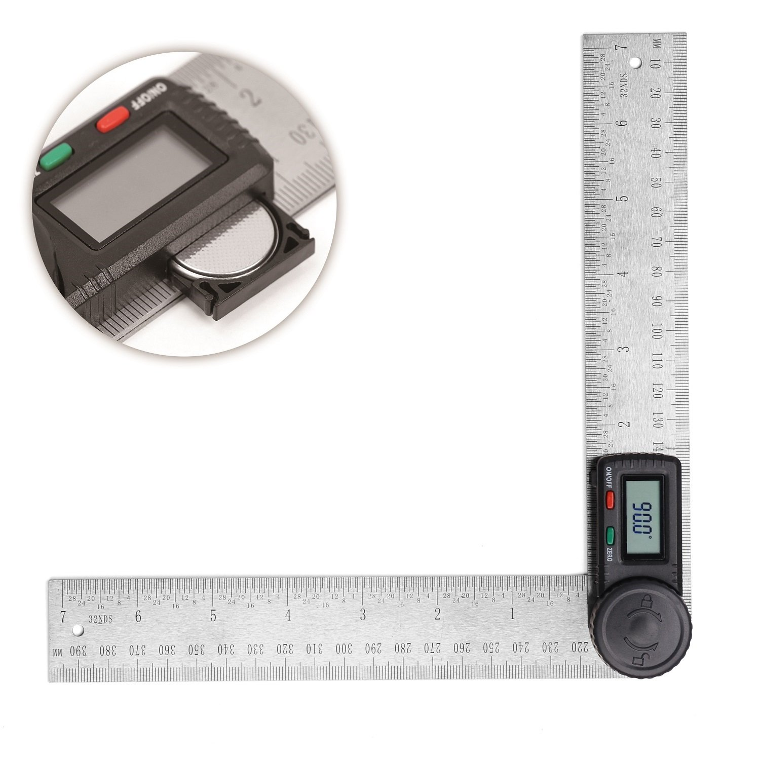 HORUSDY Digital Angle Finder Ruler 7 Inch Digital Protractor 200mm Stainless Steel Angle Gauge Best Unique Tool Gift for Men