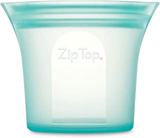 product image for Zip Top Reusable 100% Silicone Food Storage Bag and Container - Short Cup - Teal