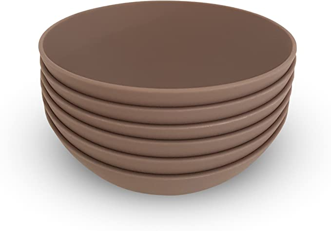 Cozy Bowl Set Set of 6 12 oz COZA DESIGN Set of 6, Bold Red