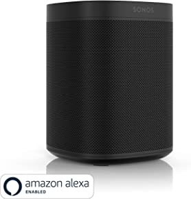 All-new Sonos One - Smart Speaker with Alexa voice control built-In. Compact size with incredible sound for any room. (black)