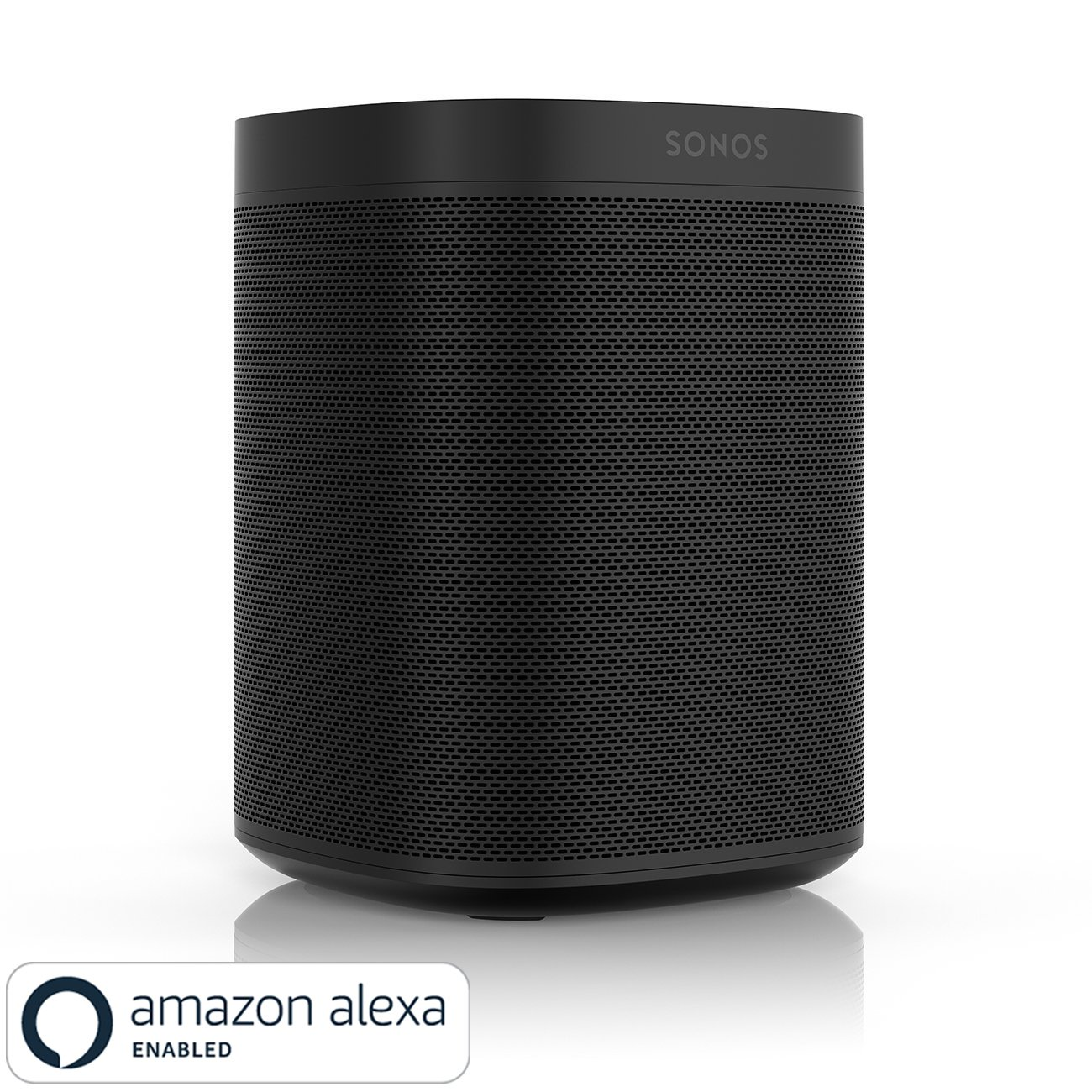 All-new Sonos One - Smart Speaker with Alexa voice control built-In. Compact size with incredible sound for any room. (black) by Sonos