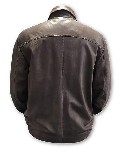 Pal Zileri Sartoriale Leather Jacket in Caramel Brown - Size 44R Leather: Amazon.es: Ropa y accesorios