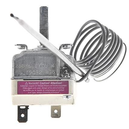 MasterPart Horno de pizza universal con termostato de control de temperatura de 455 grados EGO 55.19082.805