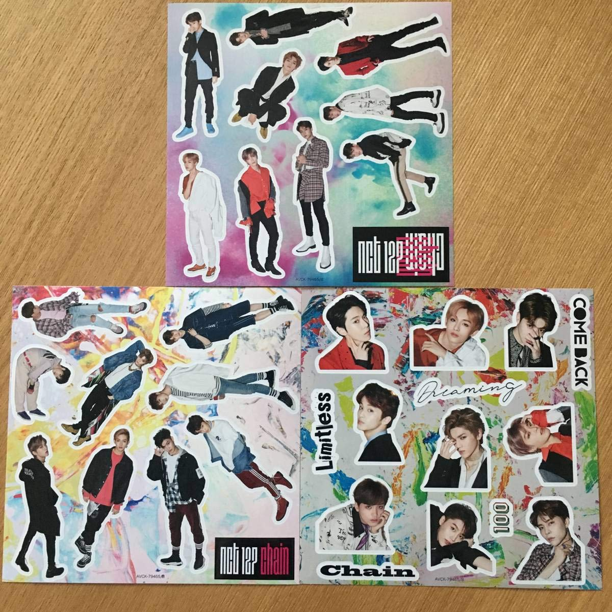 NCT 127 日本デビューアルバム Chain 初回限定特典 ステッカー3枚セット   B07QBBPLSC