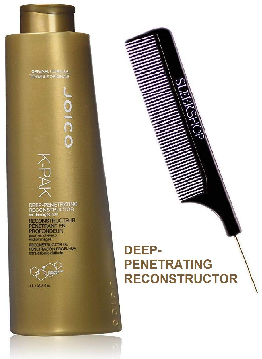 Joico K-PAK DEEP-PENETRATING RECONSTRUCTOR for Damaged Hair, ORIGINAL FORMULA STYLIST KIT K PACK Quadramine Complex 8.5 oz 250 ml – BONUS SIZE