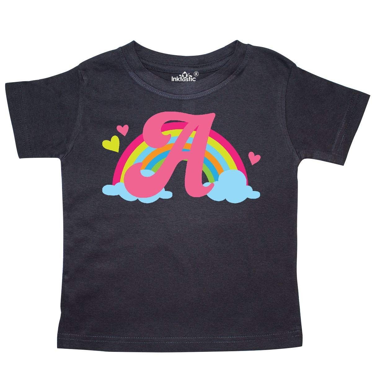 inktastic Monogram Letter a Rainbow Toddler T-Shirt
