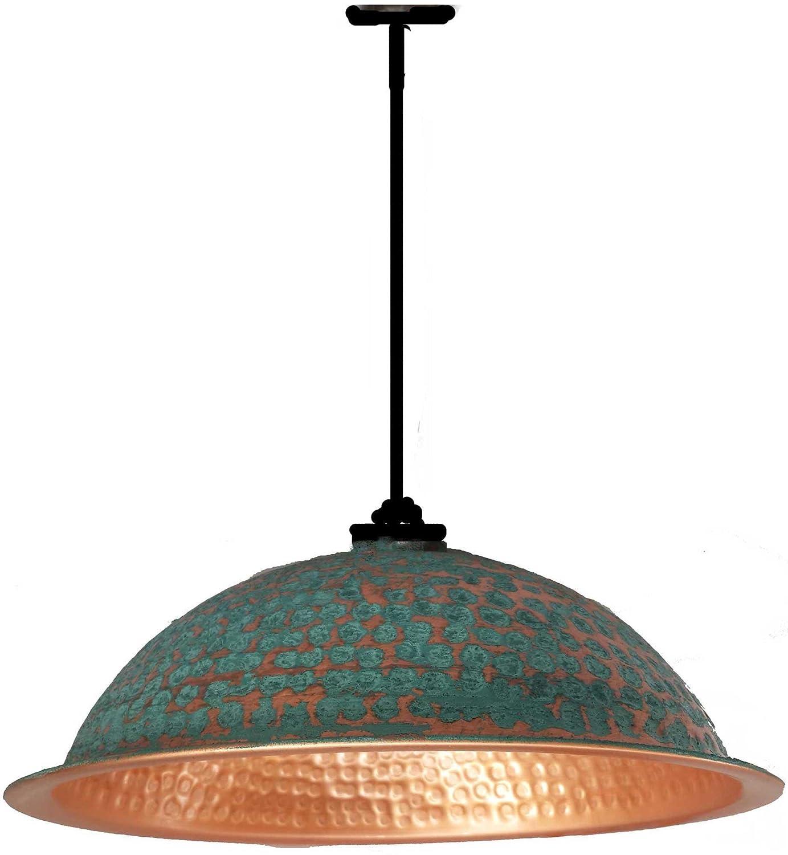 Egypt gift shops Copper Turquoise Verdigris Goldish Copper Ceiling Dome Bowl Pendant Lighting Lamp Shade DIY