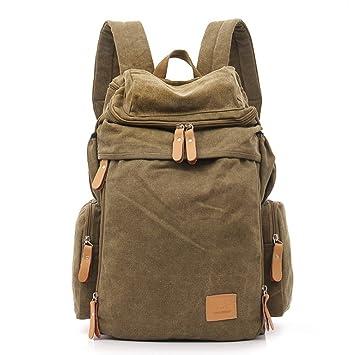 OCCMFZD Canvas Shoulder Bag Mochila De La Universidad Europa Y Los Estados Unidos Retro Travel Bag: Amazon.es: Deportes y aire libre