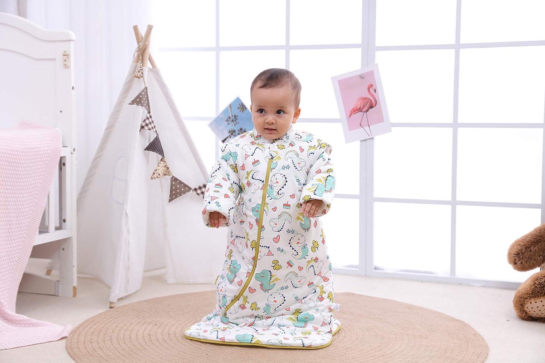 S//3-6Monate, Wei/ß Baby Winter schlafsack Kinder schlafsack 3.5 Tog Schlafsaecke aus Bio Baumwolle Verschiedene Groessen von Geburt bis 4 Jahre alt