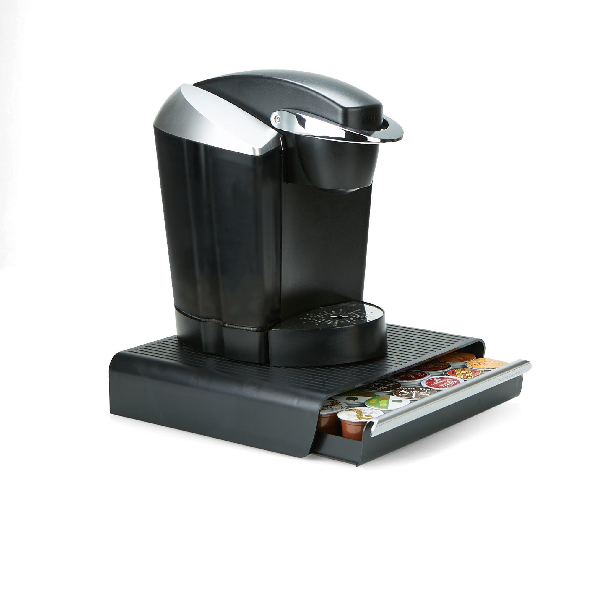 Mind Reader CAP36T-BLK Hero' Coffee Pod Drawer Storage, K-Cup Dolce Gusto CBTL Verismo, Black, One Size 2 by Mind Reader (Image #2)