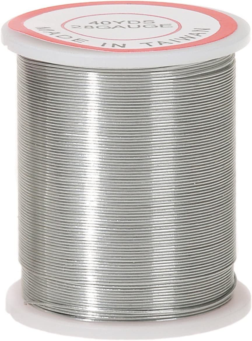 Set of 2 Darice 40 yards Silver 28 Gauge Beading Wire by bundled by Maven Gifts