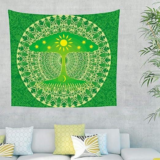 Gamoii Tapiz de Pared con diseño de árbol de la Vida ...