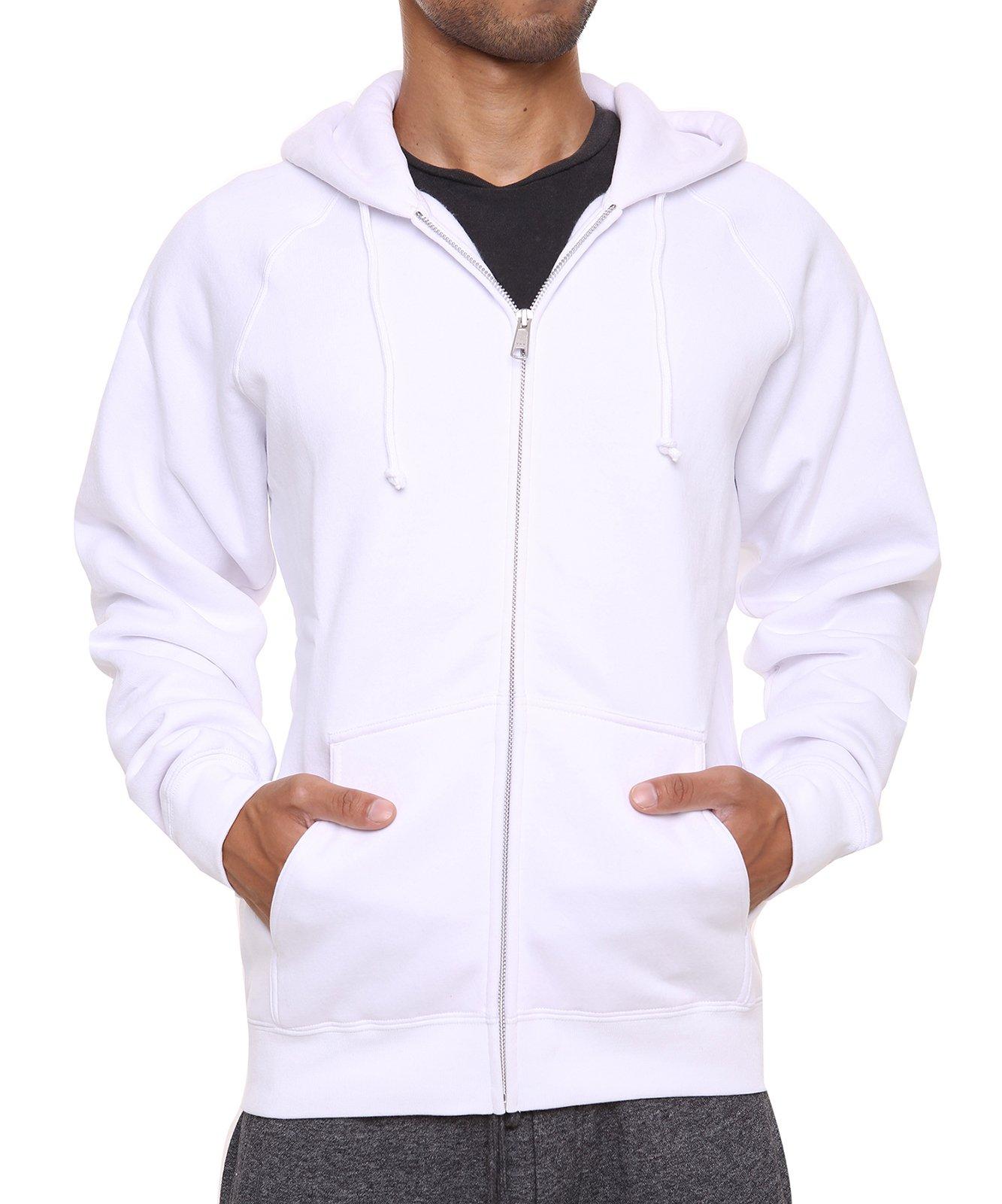 FORBIDEFENSE Men's Sweatshirt Hoodies Full Sleeve-Front Zip Premium Hood 2 Kangaroo Split Pocket