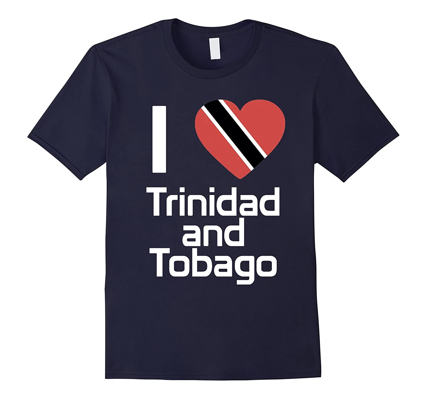 I love Trinidad and Tobago T Shirt Flag of from tee-TH