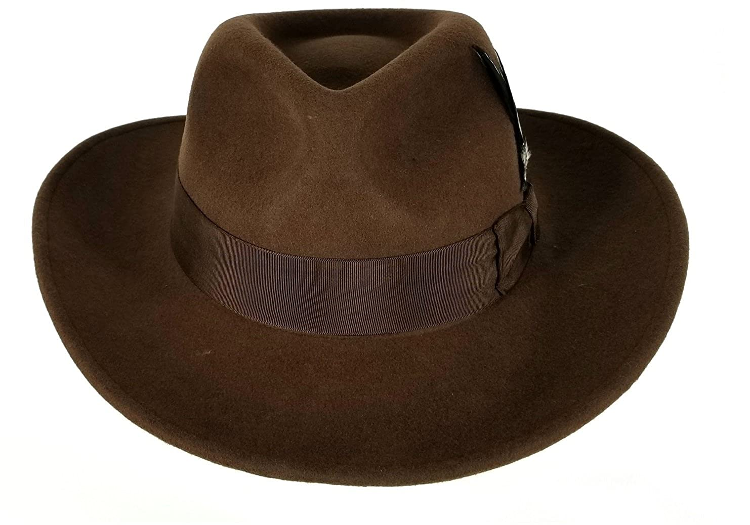 ... get mens 100 soft crushable wool felt indiana jones style cowboy fedora  hats 71d97 7016b d98f76dae9e0