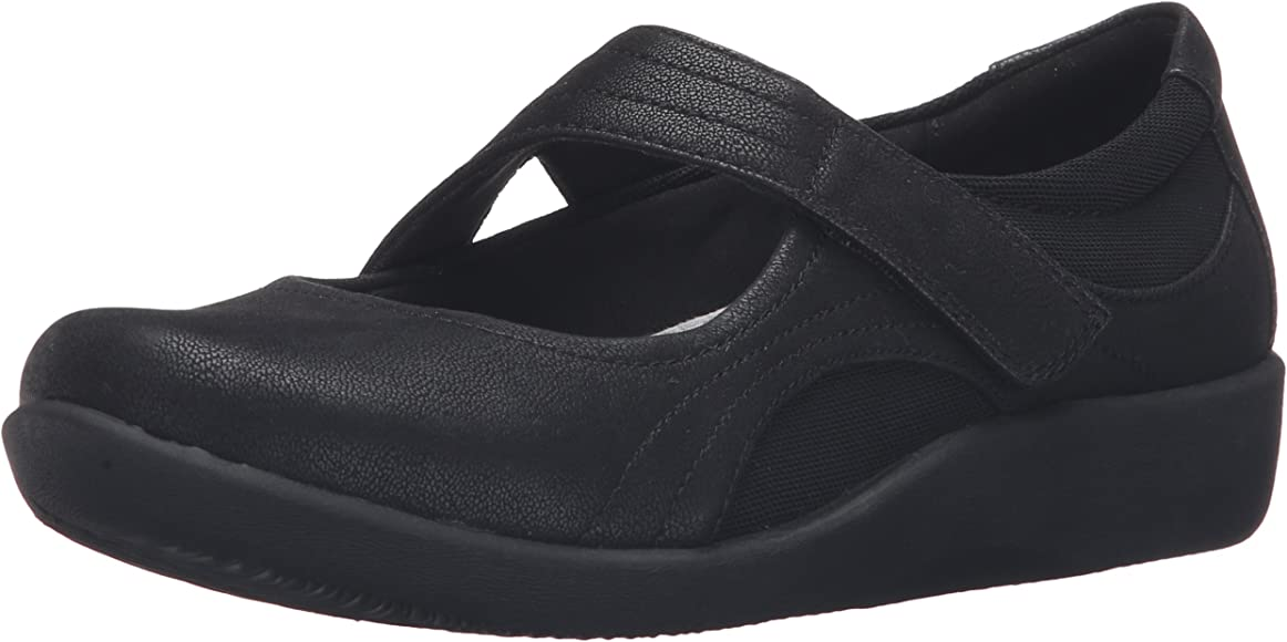 6d4317db6f6ea Clarks Women's Sillian Bella Shoes, Black Synthetic, 5 M US: Amazon ...