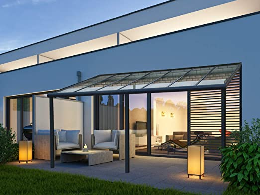 Vitro Cubierta Para Terraza Cristal Auténtico Aluminio