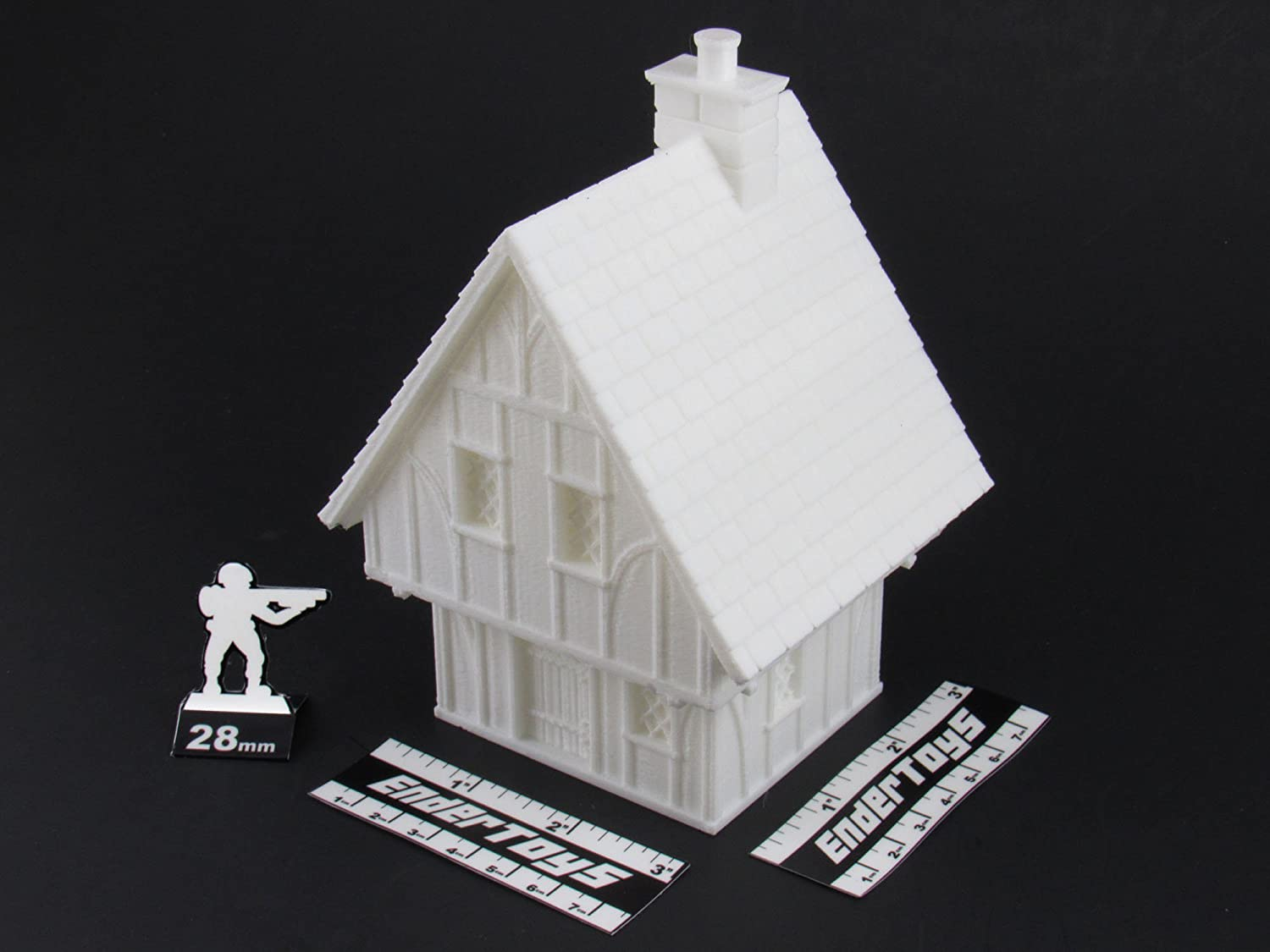 EnderToys Terrain Scenery for Tabletop 28mm Miniatures Wargame 3D Printed and Paintable Cottage Bundle